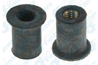 25 #10-32 Thread Well Nut 1cm Hole .500 Head Diameter