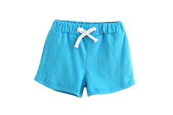 (2-3 Years, Sky Blue) - Bellelove Baby Shorts Summer Children Cotton Shorts Boys and Girl Clothes for 1-6 Years Old