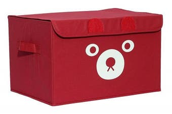 (Red) - Katabird Storage Bin for Toy Storage, Collapsible Chest Box Toys Organiser with Lid for Kids Playroom, Baby Clothing, Children Books, Stuffed Animal, Gift Baskets