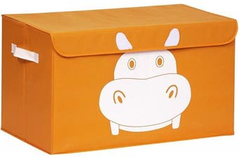 (Orange) - Katabird Storage Bin for Toy Storage - Large - Collapsible Chest Box Toys Organiser with Lid for Kids Playroom, Baby Clothing, Children Books, Stuffed Animal, Gift Baskets