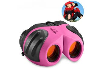 (Style3 Pink) - DMbaby Compact Waterproof Binocular for Kids - Best Gifts