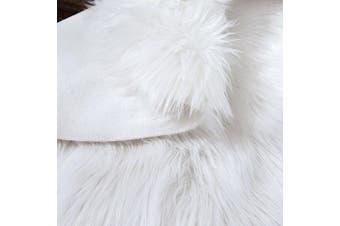 (1.2m-diameter, Whtie) - LeeVan Super soft Faux Fur Sheepskin Rug Shaggy Rug Round Area Rugs Floor Mat Home Decorator Carpets Kids Play Rug Ivory White, 1.2m Diameter
