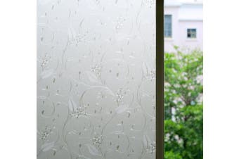 Bloss Static Cling Non-adhesive Window Film Frosted Glass Film Bathroom Door Glass Decoration Window Film Privacy Covering (45cm x 200cm 1 Roll)