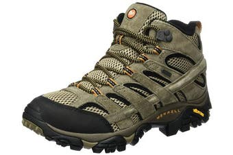 (8.5 UK, Brown (Pecan)) - Merrell Men's Moab 2 Leather Mid Gore-TEX High Rise Hiking Boots