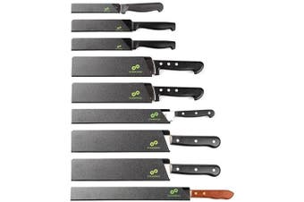 (9-Piece Set) - EVERPRIDE Chef Knife Guard Set (9-Piece Set) Universal Blade Edge Protectors for Chef, Serrated, Japanese, Paring Knives | Heavy-Duty Safety and Protection | Slip-On