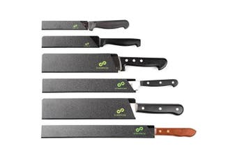 (6-Piece Set) - EVERPRIDE Chef Knife Guard Set (6-Piece Set) Universal Blade Edge Protectors for Chef, Serrated, Japanese, Paring Knives | Heavy-Duty Safety and Protection | Slip-On