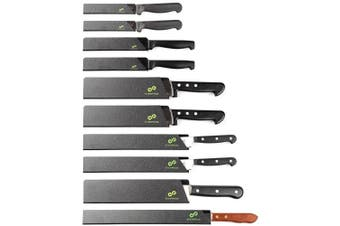 (10-Piece Set) - EVERPRIDE Chef Knife Guard Set (10-Piece Set) Universal Blade Edge Protectors for Chef, Serrated, Japanese, Paring Knives | Heavy-Duty Safety and Protection | Slip-On