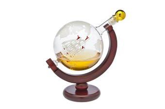 Whiskey Decanter Globe - for Liquor, Scotch, Bourbon, Vodka or Wine - 850ml