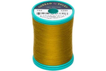 (Dark Gold Green) - Sulky Cotton & Steel Thread 50wt 660yd
