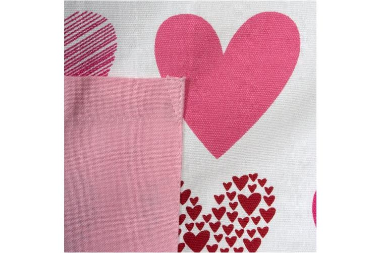 (Apron, Hearts Collage) - DII 100% Hearts Collage Bib Chef Apron Everyday Kitchen Basic