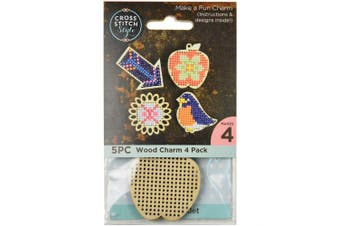 Cross Stitch Style Wood Shapes Punched For Cross Stitch