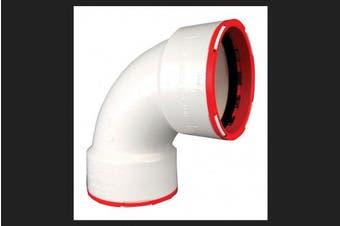 (7.6cm , 1, White) - Charlotte Pipe CTT 00300 1200 Connectite, 1/4 Bend, Hub x Hub, PVC, 7.6cm , White