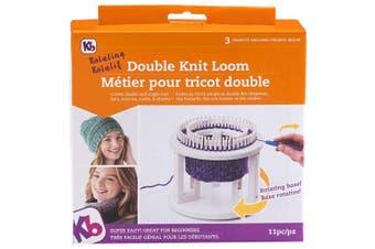 (UNITS) - Knitting Board Rotating Double Knit Loom 24cm x 27cm X3.13cm