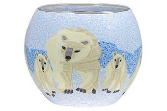 "HIM ""Polarbears"" Tea Light Holder, Multi-Colour"
