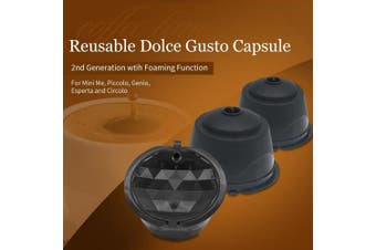 BRBHOM Refillable Dolce Gusto Coffee Capsule Reusable Dolce Gusto Coffee Filter ,with Coffee Spoon,Brush