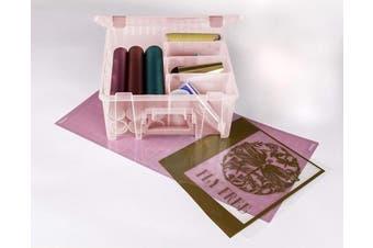 (1 Pack, Coral) - ArtBin Super Satchel Double Deep Box W/Dividers