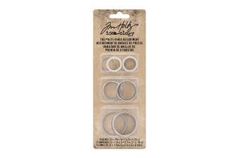 (17.8 x 6.8 x 1.1 cm) - Tim Holtz Tag Press Rings Assorted 15/Pkg
