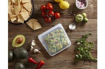 (Sandwich, Citrus) - Stasher 100% Silicone Reusable Food Bag, Sandwich Storage Size, 18cm (440ml), Citrus
