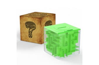(Green) - Acekid Money Maze Bank 3D Puzzle Coin Box Game Saving Maze For Kids Toys Cube Gifts (Green)