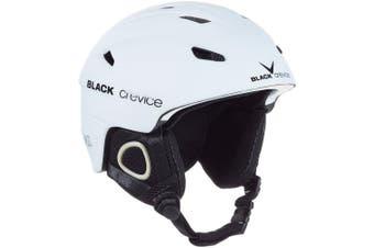 (X-Large, White - white) - Black Crevice Kitzbühel Ski Helmet