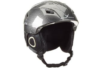 (Large, grey - schwarz carbon) - Black Crevice Kitzbühel Ski Helmet