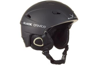 (Large, Black - black) - Black Crevice Kitzbühel Ski Helmet