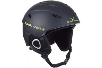 (Large, Black - black/yellow) - Black Crevice Kitzbühel Ski Helmet