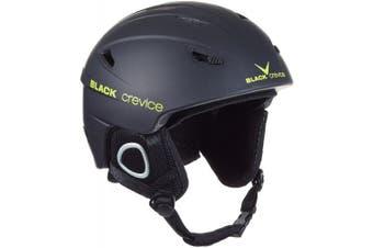 (X-Small, Black - black/yellow) - Black Crevice Kitzbühel Ski Helmet