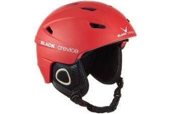 (X-Small, Red - red) - Black Crevice Kitzbühel Ski Helmet