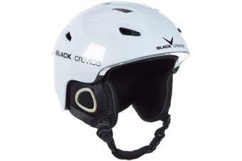 (Medium, White - weiß carbon) - Black Crevice Kitzbühel Ski Helmet