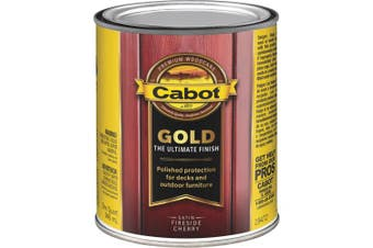 (Quart, Low VOC  Fireside Cherry) - Cabot Gold Low VOC Exterior Stain
