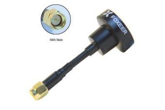 (SMA, Black) - Thriverline Foxeer FPV Antenna 5.8GHz Pagoda RHCP Omnidirectional Antenna for FPV Quadcopeter TX/RX (Black, SMA)