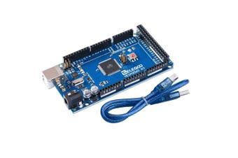 (Blue) - Elegoo MEGA 2560 R3 Board ATmega2560 ATMEGA16U2 + USB Cable for Arduino