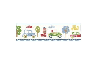 Brewster TOT46341B Gatsby Red City Scape Trail Border Wallpaper