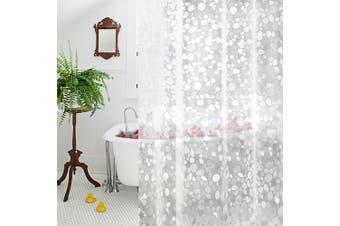 (180cm W x 200cm L, Cobblestone) - Clear EVA Shower Curtain liner, Aoohome 18 Gauge 3D Cobblestone Extra Long Bathroom Curtain Mildew Resistant, Heavy Duty, 180cm x 200cm , semi transparent