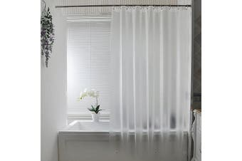 (180cm W x 200cm L, Frosted) - Frosted Shower Curtain Liner, Aoohome Eva 15 Gauge Extra Long Shower Curtain 180cm x 200cm with 3 Bottom Magnets, Heavy Duty, Mildew Resistant, Semi Transparent