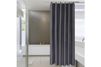(180cm W x 210cm L, Dark Grey) - Extra Long Shower Curtain 180cm x 210cm , Aoohome Solid Fabric Shower Curtain Liner with Weighted Hem for Hotel, Mildew Resistant,Waterproof, Dark Grey