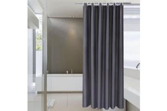 (180cm W x 190cm L, Dark Grey) - Hotel Fabric Shower Curtain Liner, Aoohome Solid Bathroom Curtain Mildew Resistant with Weighted Hem, Waterproof, Dark Grey, 180cm x 190cm