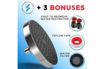 (Chrome & Black Matte) - SparkPod Shower Head - High Pressure Rain - Luxury Modern Look - Easy Tool Free Installation - The Perfect Adjustable & Heavy Duty Universal Replacement For Your Bathroom Shower Heads