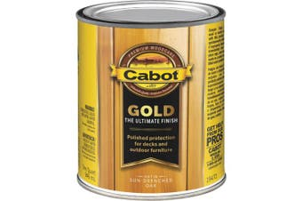 (Quart, Low VOC Sun-Drenched Oak) - Cabot Gold Low VOC Exterior Stain