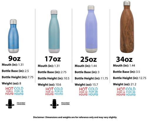 Simple Modern Wave Water Bottle Vacuum Insulated Double Wall 18//8 Stainless Steel