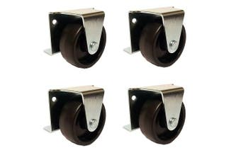 5.1cm Inch Low Profile Trundle Casters / Wheels Cabinet Roll-Out Bed - Set of 4