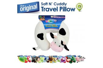 (Cow) - Cloudz Plush Animal Pillows - Cow