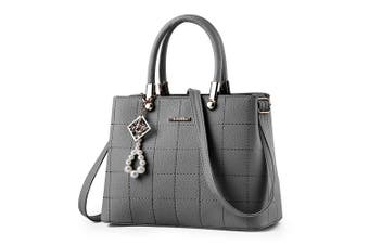 (Grey) - Ladies handbags shoulder bag, BESTOU women handbags designer PU leather ladies bags for Christmas