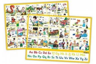 Jolly Phonics Letter Sound Wall Charts: In Precursive Letters (British English edition)