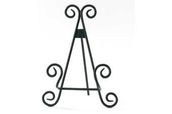 Black Metal Scroll Plate Stand