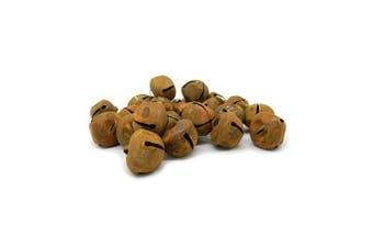 CVHOMEDECO. Country Primitive Craft Rusty Tin Jingle Bells for Crafting, Designing and Decorating, 2.5cm - 0.5cm , Packages of 24.