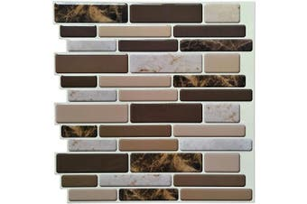 (30cm  X 30cm  (10 sheet)) - Art3d Kitchen Backsplash Tiles Peel and Stick Wall Stickers, 30cm x 30cm , (10 Sheets)