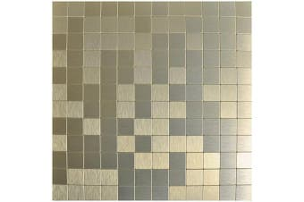 (30cm  X 30cm  (5 sheet), Champagne) - Art3d 5-Piece Backsplash Tile Peel and Stick Stainless Steel Mosaics, Champagne