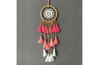(Pink) - Artilady Small Dream Catcher Mini Dream Catcher for car Mirror (Pink)